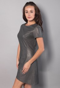 DIVINA DARK GREY ASYMMETRIC DRESS
