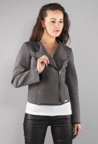 DARK GREY ASYMMETRIC JACKET