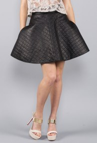 DIVINA QUILTED LEATHER SKIRT