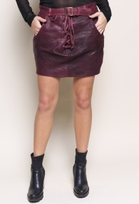 DIVINA VIOLET LEATHER SKIRT
