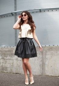 DIVINA BLACK LEATHER SKIRT 2