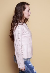 IMPERIAL PINK LEATHER JACKET