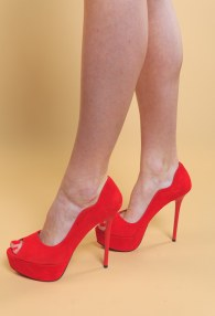 TUCINO RED HIGH HEELS