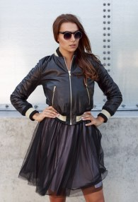TENAX BOMBER LEATHER JACKET