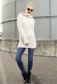 MITIKA PINK LONG SWEATER