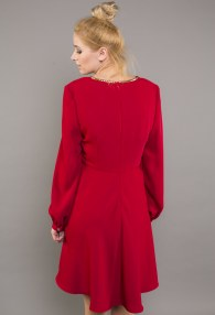 W LES FEMMES RED DRESS