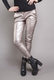 DIVINA GOLD/SILVER LEATHER PANTS