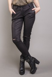 DIVINA BLACK LEATHER PANTS 3