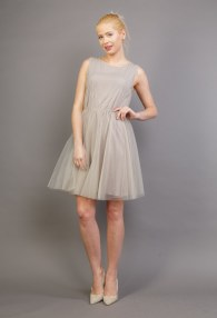 LE STREGHE BEIGE DRESS