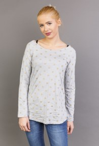 LE STREGHE GREY BLOUSE