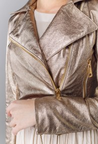 DIVINA GOLD LEATHER JACKET