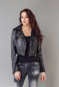 DIVINA BLACK LEATHER JACKET