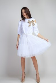 MARYLEY WHITE/TULLE DRESS