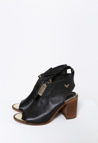 TUCINO BLACK/GOLD BOOTIES