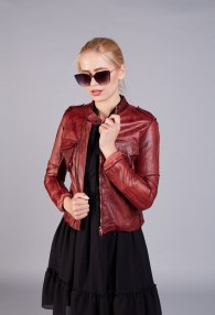 KING KONG WINE LEATHER JACKET