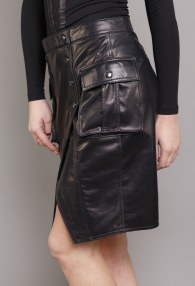 DIVINA BLACK LEATHER SKIRT 4
