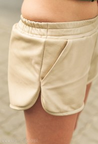 DIVINA PEARL LEATHER SHORTS