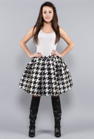 IMPERIAL CHECK SKIRT